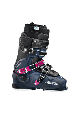 One of Dalbello's top women's freeride model has a female-specific boot cuff height, and a special flex-adjusted tongue, making it the ideal choice for technically competent, advanced, or even advancing skiers. ID Max thermo-moldable liners give you the l